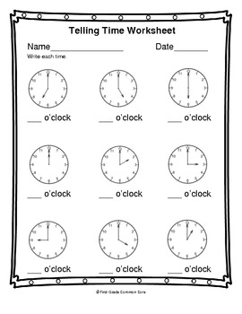 (2.MD.7 & 2.MD.8)Time & Money -2nd Grade Common Core Math ...  |Common Core Time Worksheets