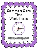 Common Core Telling Time Worksheets
