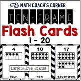 Common Core: Ten-Frame Flash Cards, 1-20