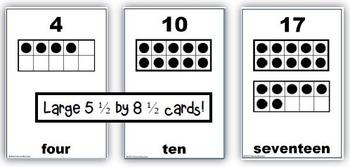 Common Core: Ten-Frame Flash Cards, 1-20
