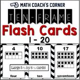 Ten-Frame Flash Cards, 1-20