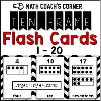 common core ten frame flash cards 1 20