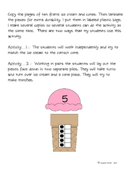 Common Core Ten Frame Math Activity