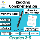 Reading Test Prep Assessments - Non-fiction * Fiction * Poetry * Essay