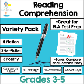 Reading Comprehension Passages And Questions Test Prep