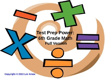 Common Core PARCC Test Prep Power 6th Grade Math (full version)