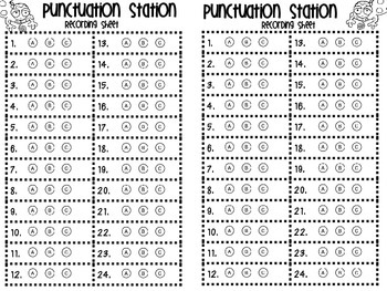 Common Core Test Prep! Punctuation Station Task Card Kit