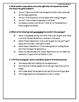 Common Core Test Prep: The Red Handkerchief - St. Patrick's Day folktale!