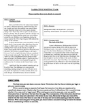 Common Core Text-Dependent Narrative Writing Prompt Grade 5