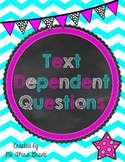 Common Core: Text Dependent Question Prompts