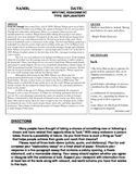 Common Core Text-Dependent Writing Prompt Explanatory Grade 7