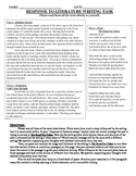 Common Core Text-Dependent Writing Prompt Response to Literature Grade 7