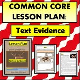 Common Core: Text Evidence - Topic Spiders