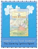 The Storm Cynthia Rylant Common Core  Exemplar Exemplary Text Evidence CCSS unit