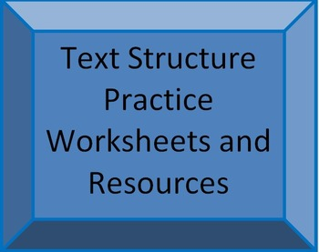 Common Core Text Structure Teacher Resources