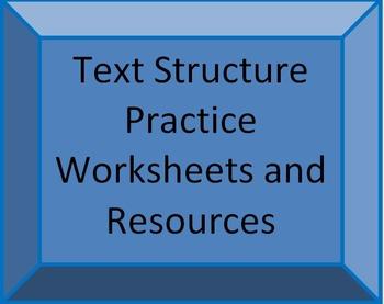 Common Core Text Structure Teacher Resources