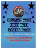 Common Core Text Type Poster Pack