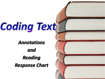 Reading Annotation Chart for Informational and Fictional Texts