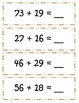 Common Core Thanksgiving Double Digit Addition w/ REGROUPING