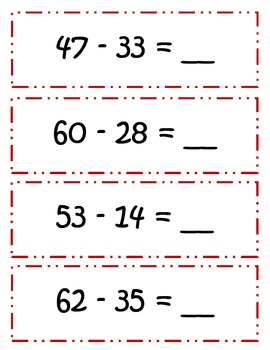 Common Core Thanksgiving Double Digit Subtraction w/ BORROWING - CCSS