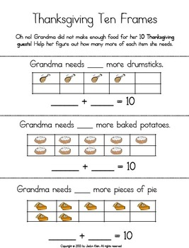 Common Core Thanksgiving Math