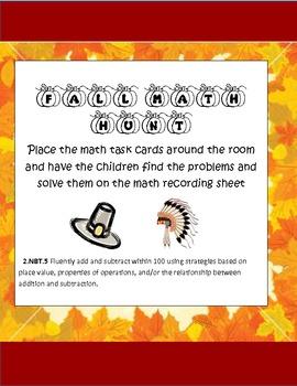 Common Core Thanksgiving Math Hunt