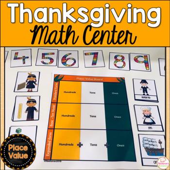 Common Core Thanksgiving Place Value Math Center