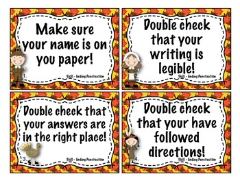 Statements and Questions Task Cards  2.L.2 (Common Core Thanksgiving)