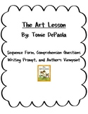 The Art Lesson  by Tomie dePaola ~Comprehension & More!