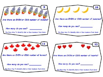 Common Core- The Easy Way To Identify Odd and Even Numbers