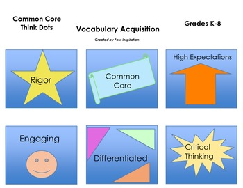 Common Core Think Dots for Vocabulary Acquisition Grades K- 8
