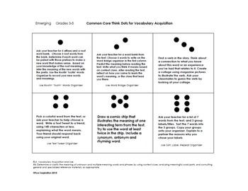 Common Core Think Dots for Vocabulary Acquisition - Grades K-8