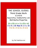 Common Core Third Grade Associative, Commutative and Distr