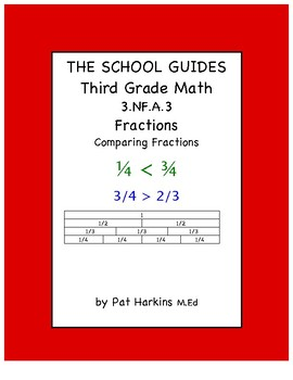Common Core Third Grade Comparing Fractions 3.NF.A.3