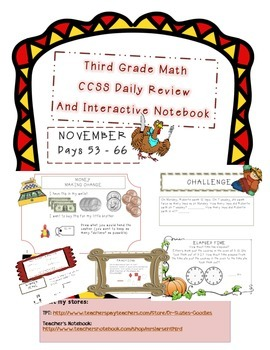 Common Core Third Grade Daily Math NOVEMBER 2014