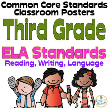 Common Core Third Grade ELA Posters (I can...) Melonheadz Edition