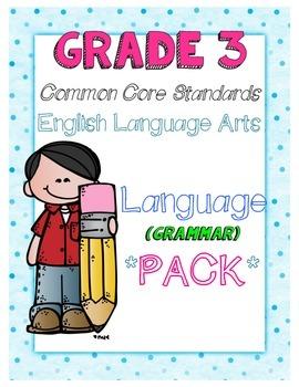 Common Core Third Grade Language (Grammar) Pack