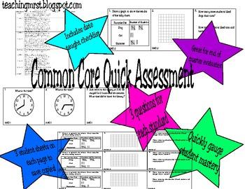 Common Core Third Grade Math Assessment~ Every Standard!
