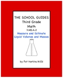 Common Core Third Grade Measure and Estimate Liquid Volumes and Masses 3.MD.A.2