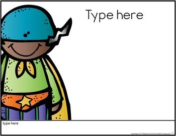 Common Core Third Grade Posters - Editable- (Superhero Edition)