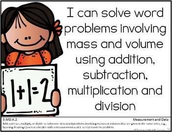 Common Core Third Grade Posters (I can...) MATH ONLY Melonheadz Edition