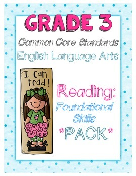 Common Core Third Grade Reading Foundational Skills Pack