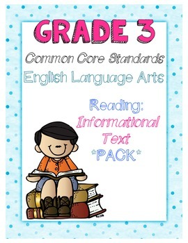 Common Core Third Grade Reading Informational Text Pack