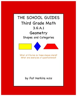 Common Core Third Grade Shapes and Categories 3.G.A.1