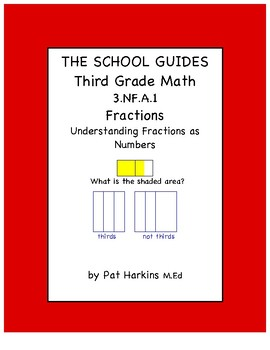 Common Core Third Grade Understanding Fractions as Numbers 3.NF.A.1