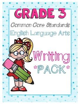 Common Core Third Grade Writing Pack