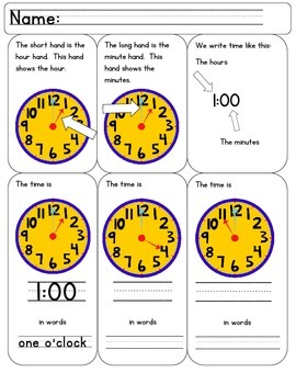 Common Core Time is Ticking Away 1st Grade!