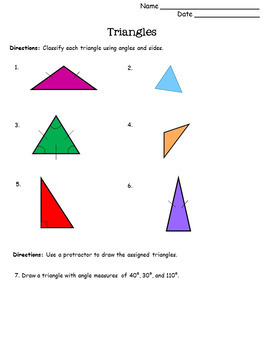 Triangles Lesson Pack {Aligned with Common Core: 7.G.2 and 7.G.5}