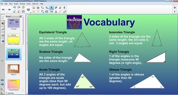 Triangles for the SMART Board Lessons & Review