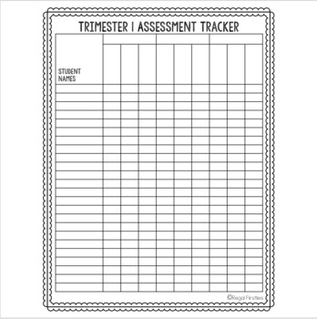 Assessment Tracker Trimester or Semester